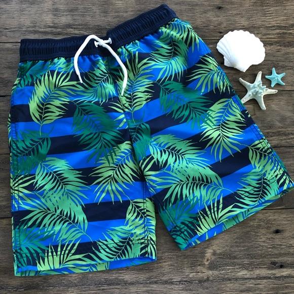 1ff8858365 Lands' End Swim | Lands End Boys Tropical Trunks Lined Shorts M ...